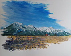 Mountain Pass #2 SOLD