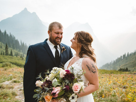 Big Bend Elopement in Glacier National Park