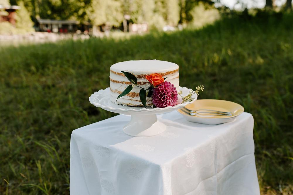 Naked Wedding Cake - Fleur Bake Shop, Whitefish, MT
