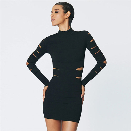 The Cut Dress (Black)