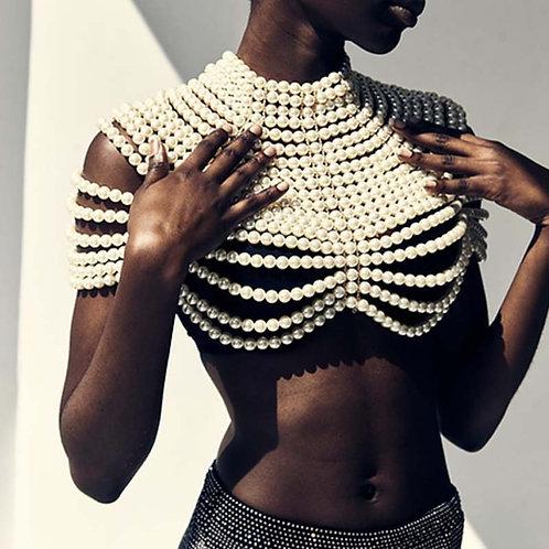 Multi-layered Pearl Accessory Top