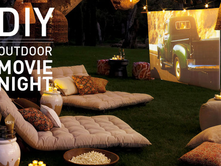 "DIY Friday! Fun Outdoor Party Themes: Hosting a ""Drive-in"" movie night in your yard!"