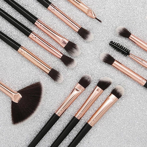 12pcs  Eyeshadow Brush Set  with Storage Bag