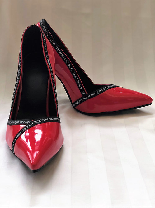 "RG ""Signature"" 3-inch leather heels- Red"