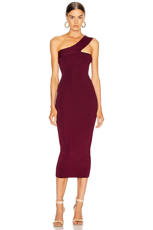 Plum Midi Bandage Dress