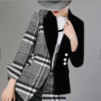 Multi-Patterned Blazer