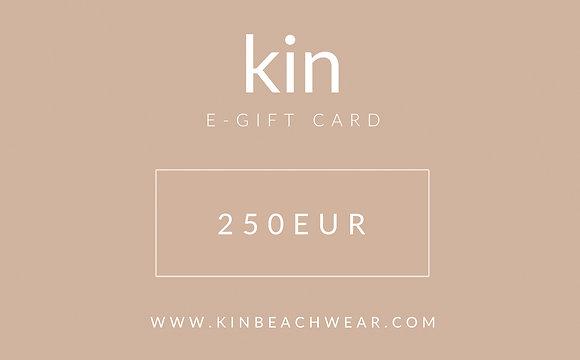 E - GIFT CARD 250 EUR