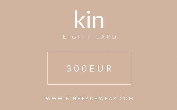 E - GIFT CARD 300 EUR