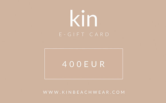 E - GIFT CARD 400 EUR