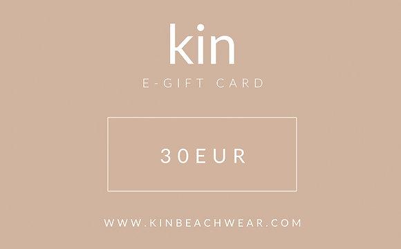 E - GIFT CARD 30 EUR
