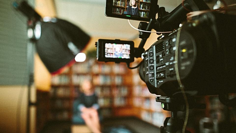 Filming interviews