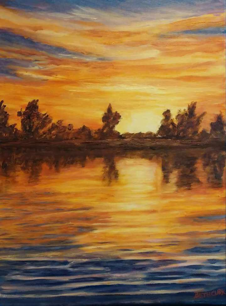 Fire on the Water (SOLD)