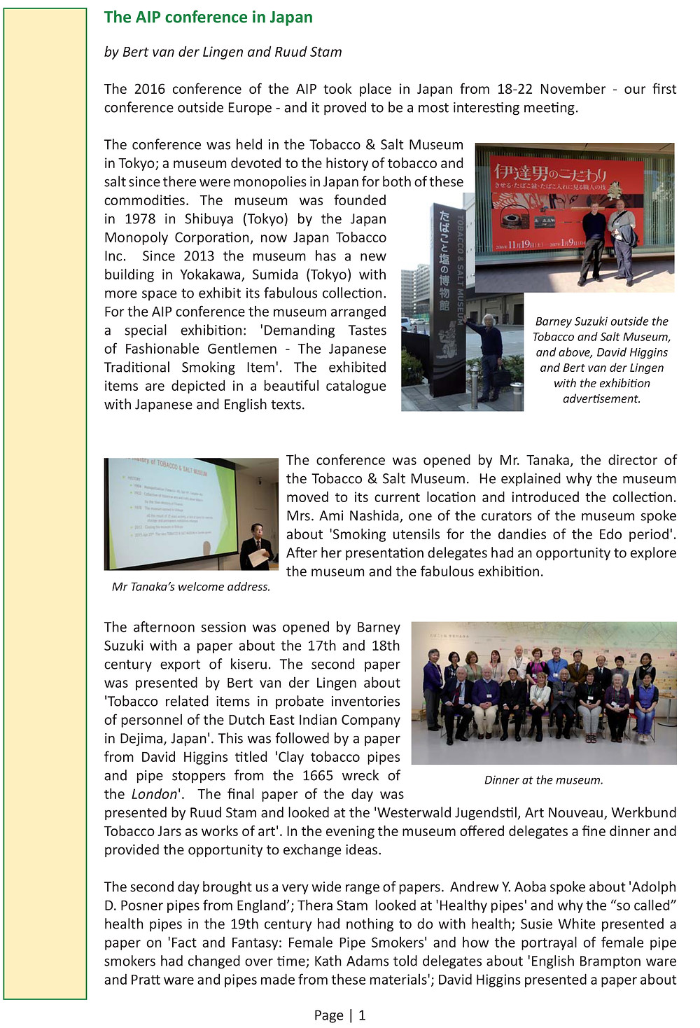 Click here for AIP Newsletter #16