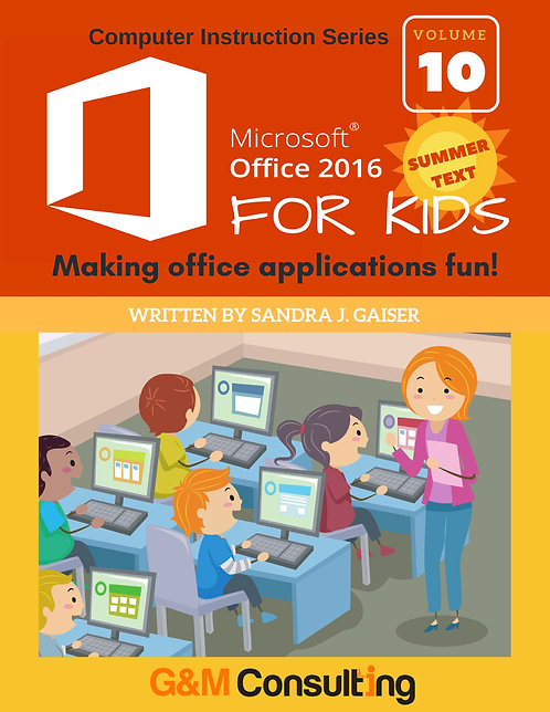 Microsoft Office 2016 for Kids - Summer
