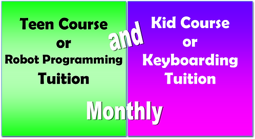 Kid Course + Teen Course Tuition - Monthly