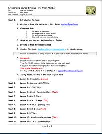 keyboarding for homesschoolers syllabus.