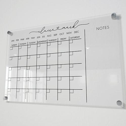 Custom Acrylic Monthly calendar with notes