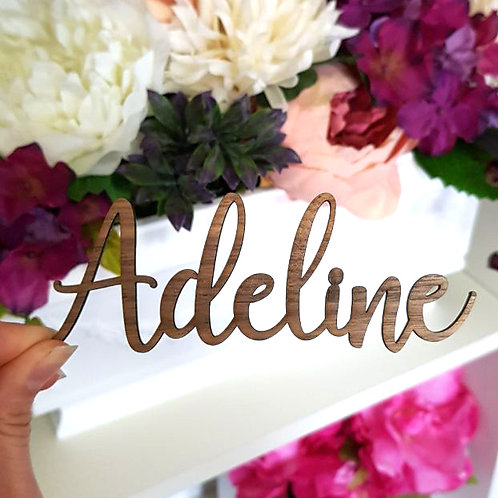 Name Place Cards - Wood