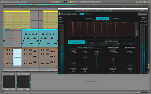 Editing music in Ableton Live, with Newfangled Audio Elevate visible.