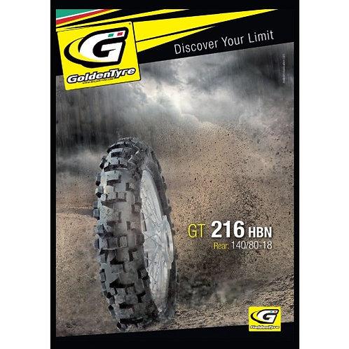 GOLDENTYRE GT216HBN ENDURO 140/80-18 F.I.M All Purpose Trail Bike Tyre