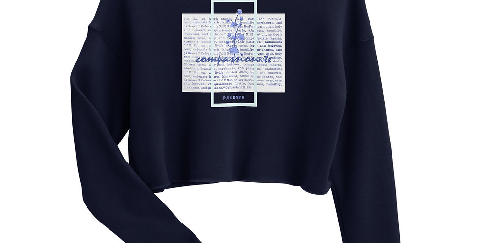 Compassionate Crop Sweater (Col. 3:12)