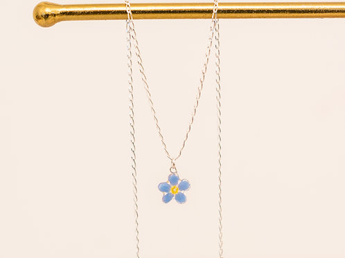 Real forget me not necklace (single)