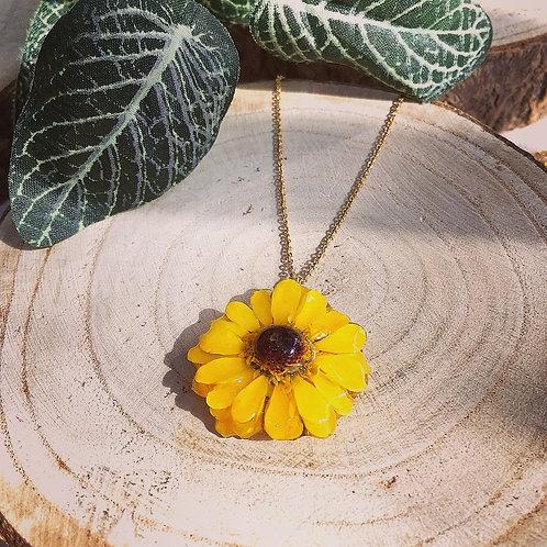 mini sunflower necklace