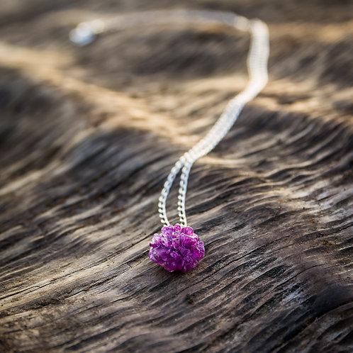 Purple Gypsophila necklace