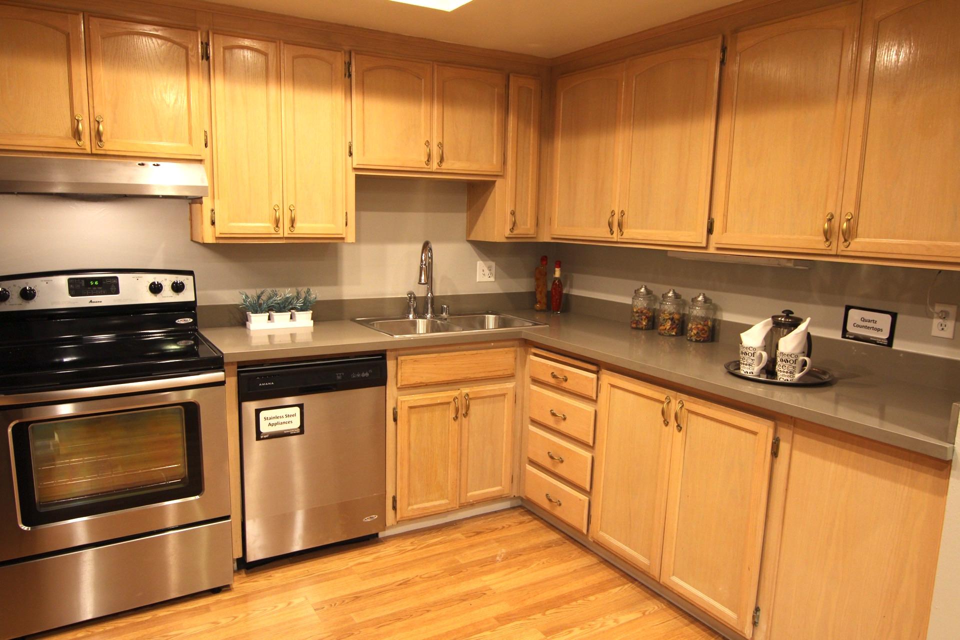 Wide kitchen