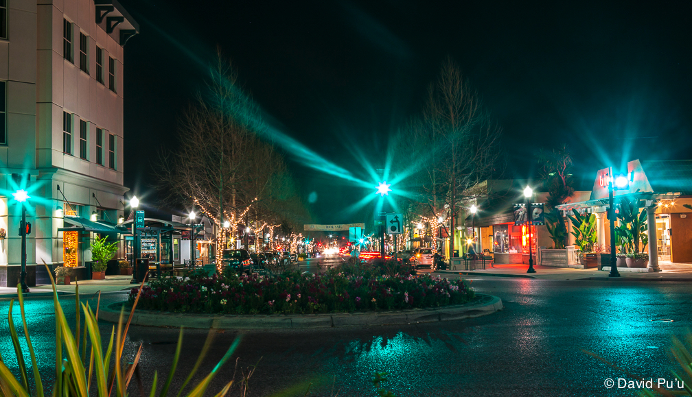 Downtown Mountain View Night Scene