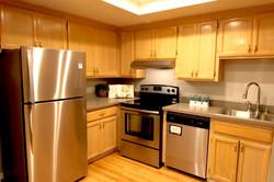 Kitchen toward refrig