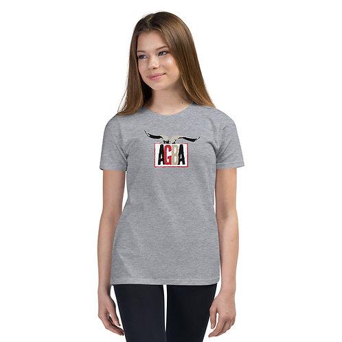 AGBA Horn Logo Kids Short Sleeve T-Shirt
