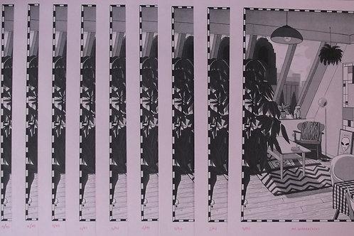 Risografía Sala No.8 (firmada por el artista)