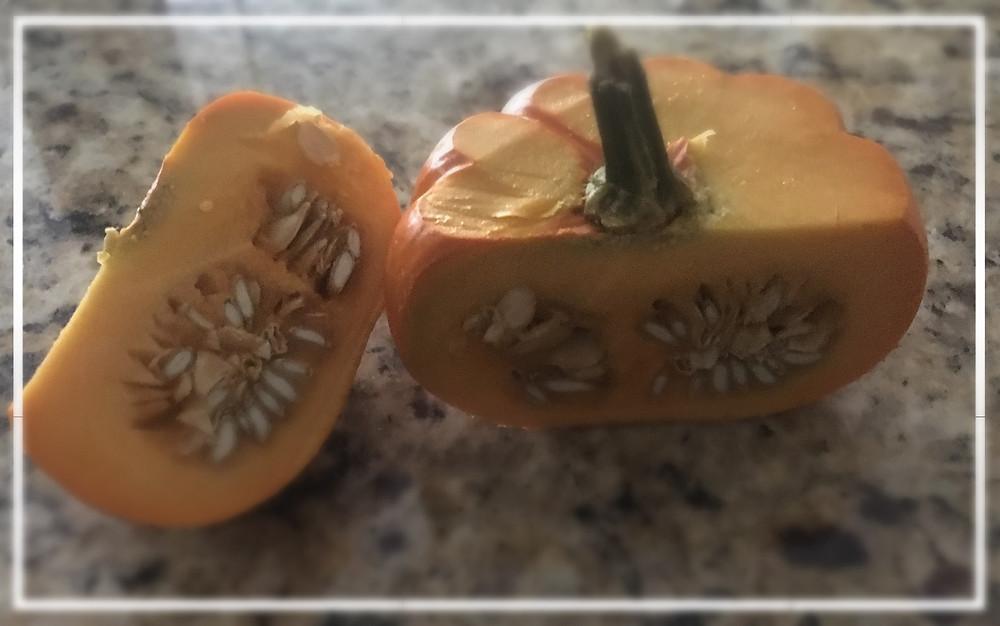 Inside of small pumpkin