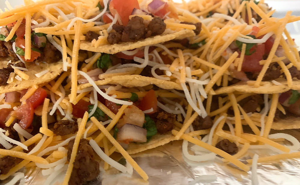 layered nachos