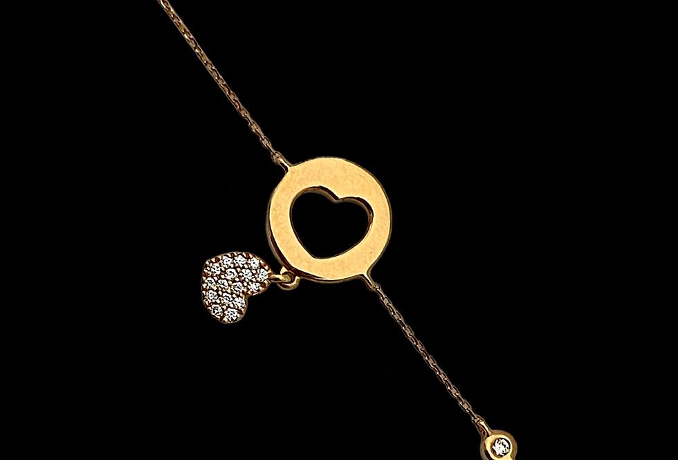 Love Bracelet - Double Heart