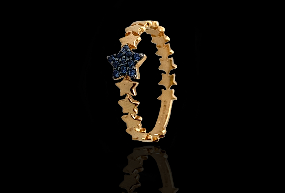 Eternity Star Ring - Sapphire
