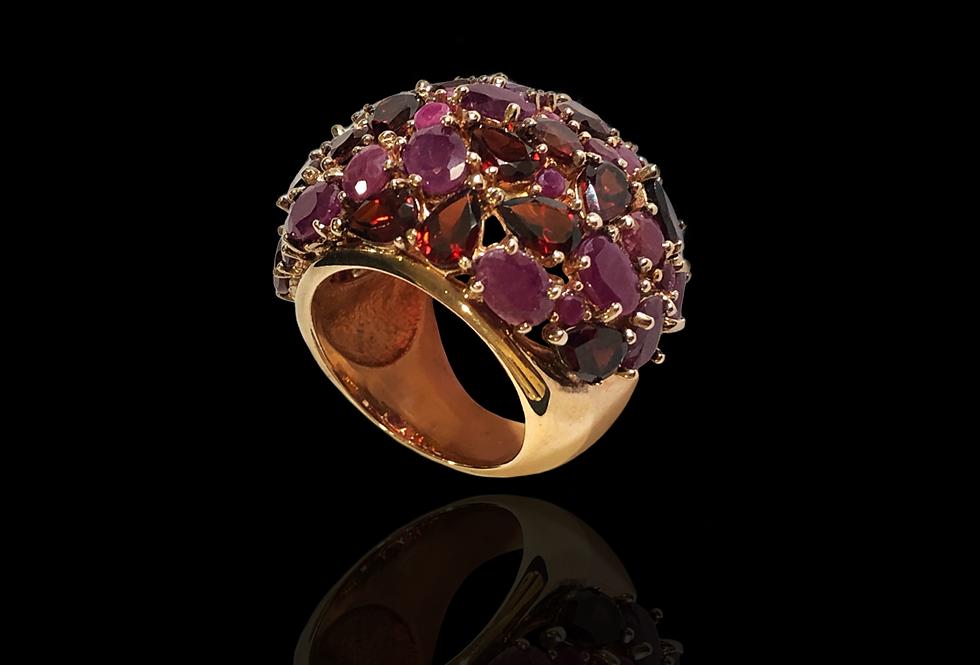 Rubies&Garnets Ring