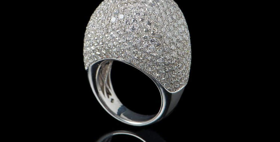 Super Rounded Pavè Diamonds Ring