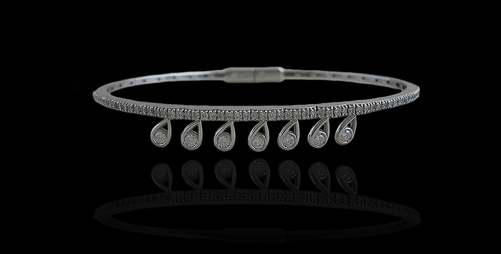 Diamond Motion Bracelet - White