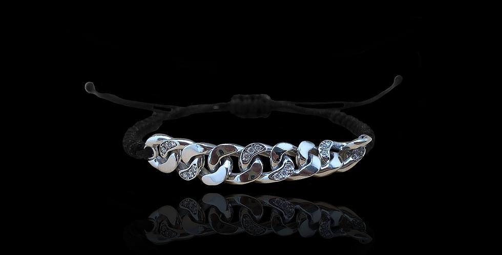 Diamond Groumette Bracelelet - White
