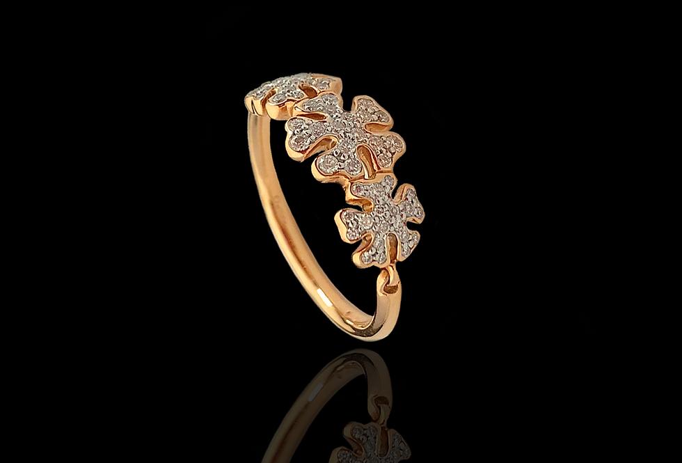 Diamond Swowflake Ring - WhiteDM
