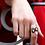 Thumbnail: Double Contrariè Ring - Diamonds