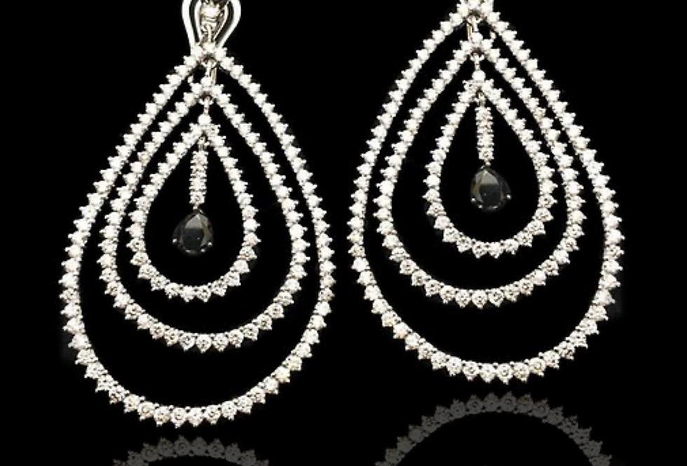 Hanging Drops Diamonds Earrings