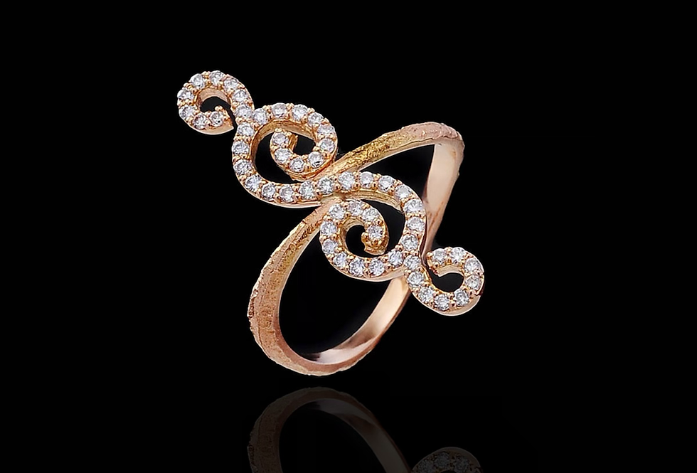 Spiral Dianond Ring