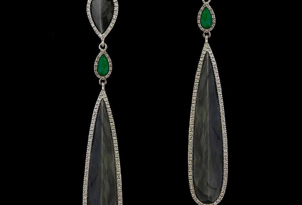 Emerald&Diamond Earrings