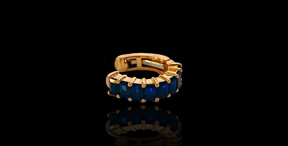 Earcuff Baguette - Sapphire