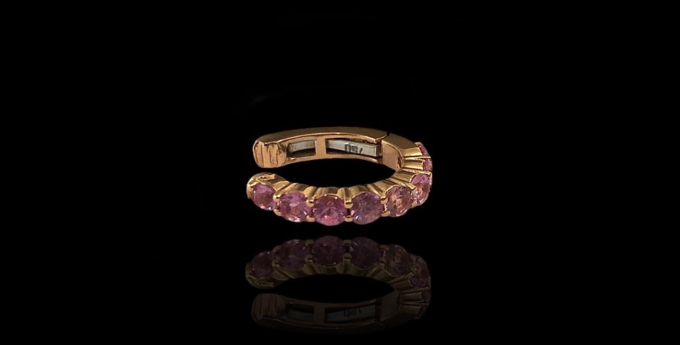 Pink Sapphire Earcuff - Round