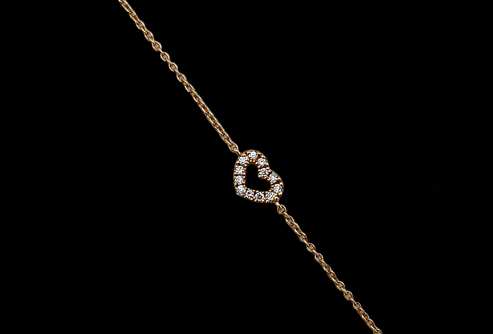 Love Bracelet - Diamond Heart