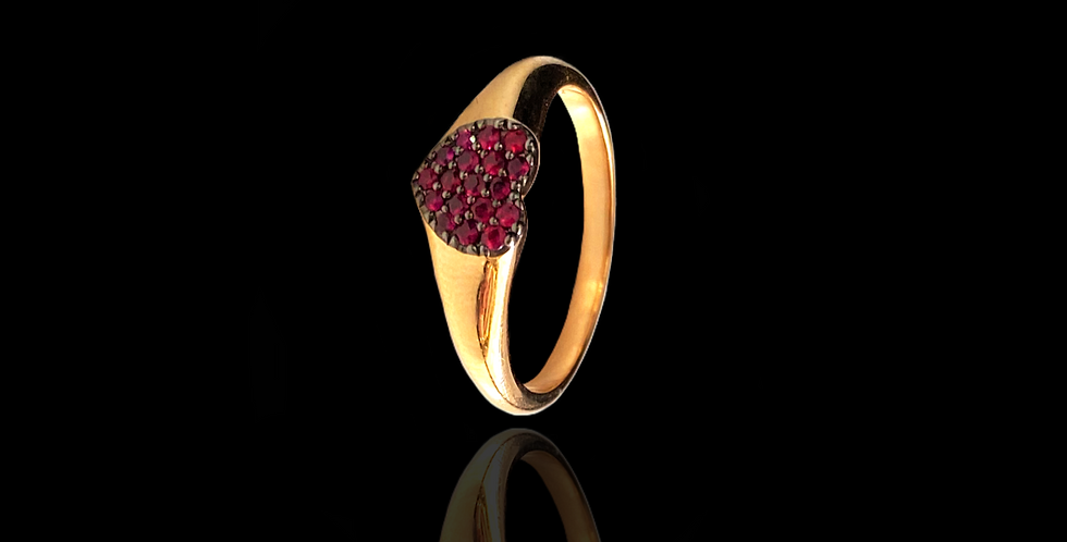 Heart Chevalier Ring
